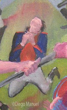 Batalla de Caseros. Cuadro en venta de la Serie Historia Argentina del artista plastico Diego Manuel