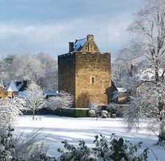 Winter at Dean Castle in kilmarnock Scotland