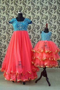 Mom N Daughter Duo Mom Daughter Matching Dresses, Mom And Baby Dresses, Kids Party Wear Dresses, Dresses Kids Girl, Mother And Daughter Dresses, Woman Dresses, Birthday Dresses, Girls, Long Frocks For Kids