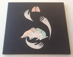 Purity Ring, Shrines, which features handrawn artwork by Kristina Baumgartner.