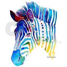 watercolor zebra . . . new challenge? I think so :)