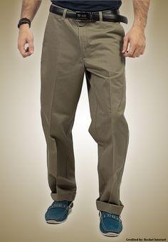 "Bien Habille IRONEEZEE Military Olive ""Smart Fit"" Wrinkle Free 100% Cotton Trouser Permanent Crease #men #style #fashion #menswear #Pants #Jeans #trousers #onlinemela www.onlinemela.pk Order Now: +92-334-333-6352"