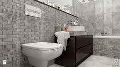 PORTFOLIO - Średnia łazienka w bloku bez okna, styl nowoczesny - zdjęcie od PEKA STUDIO