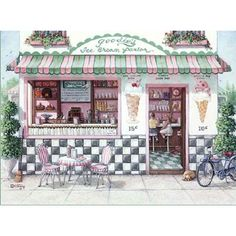 the ice cream shop ❤ liked on Polyvore featuring backgrounds