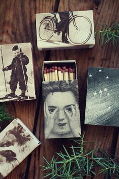Fina Tändsticksaskar - diy / Cute Matchboxes diy - Evelinas Ekologiska