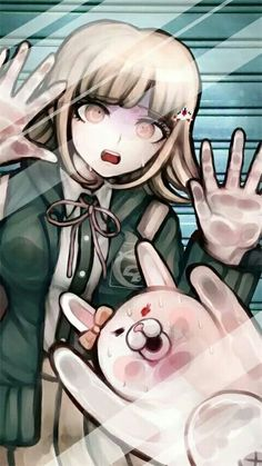 Danganronpa | Idk if someone is trying to draw the execution for Nanami and Usami..or is just drawing a horrible screen saver....