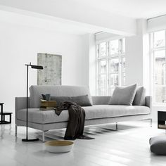 open end sofa is the perfect ideas to avoid pinch point near passage and it's a perfect invitation for a side table.
