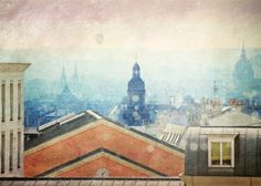 Paris rooftops photography, Lanscape photography,  Fine Art Photography  , Fall decor, Paris photography, Paris wall art,  5x7(13x18cm) on Etsy, $18.10