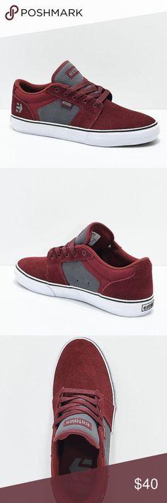 aabc60d4efa8a0 Etnies Barge LS Burgundy   Grey Skate Shoes Men s  New no box  Barge LS