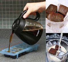 Erfrischung an heißen Sommertagen: Kaffee-Eiswürfel in Milch | Webfail - Fail Bilder und Fail Videos