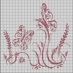Free : Papillons dans le jardin - Les tites'croix de Ludivine