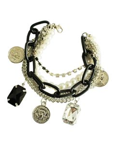 Inspiration: mixed metal charm bracelet.
