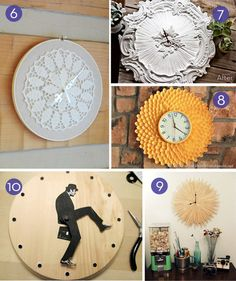 10 easy #DIY wall clock projects!