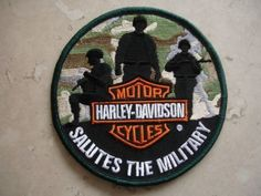 "2012 Harley Davidson Motorcycles ""Salutes The Military"" Patch Camo X"