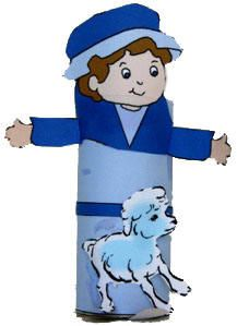 This little shepherd can be used for a number of different Bible stories