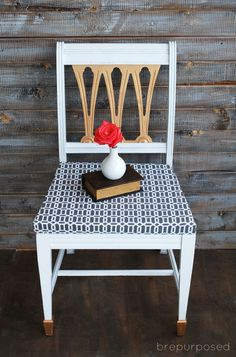 white gold and grey chair makeover, how to, painted furniture, reupholster