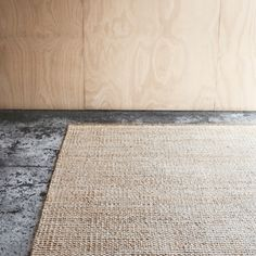 Textured beauty. The Kalahari Weave rug in Natural & White | www.armadillo-co.com