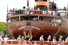 Did you know that one day a year you can get up close and personal to a freighter? The last Friday in June is Engineer's Day the one day you can cross the walls of the Soo Locks in Sault Ste. Marie,  MI.
