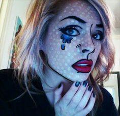 Lichtenstein Halloween Make up.