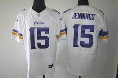 Nike Vikings  15 Greg Jennings White Men s Embroidered NFL Elite  Jersey! 25.00USD 5d9215951