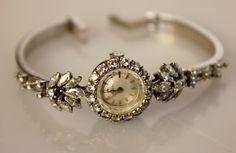 Lot 18: Omega Ladies Vintage Diamond Watch; 18kt White Gold