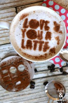 love you a latte DIY