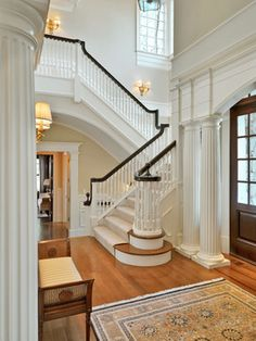 Entry Halls & Main Stairs - traditional - Staircase - Boston - Jan Gleysteen Architects, Inc