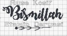 Cross Stitch Letters, Cross Stitch Charts, Cross Stitch Designs, Stitch Patterns, Bohemian Baby Nurseries, Plastic Canvas Patterns, Diy And Crafts, Islam, Pixel Art