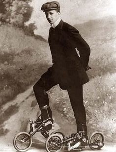 Is this a pair of mini-bikes? Roller skates? We just don't know. 20absurd inventions from the past that didn't catchon