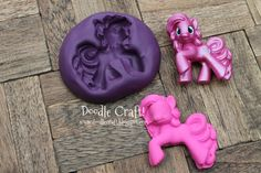 Make your own Silicone Molds!  My little pony mold for candy, chocolate, fondant, and other stuff!