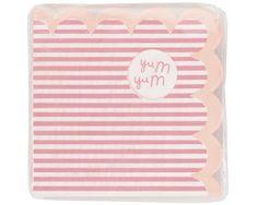 """Pink n Mix """"cocktail"""" Papierservietten  von KidsPartyKItchen auf DaWanda.com"""