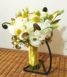Roses, eustoma, billy balls & fern shoots bouquet  www.myreika.com