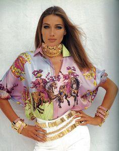 Gianni Versace S/S 1992 Carla Bruni