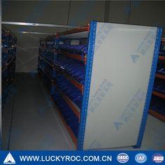 Shelf Rack with Blue Plastic Bin