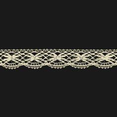 Puntilla de encaje de bolillos de algodón mercerizado de 2,2 cm. (Disponible en 2 colores)