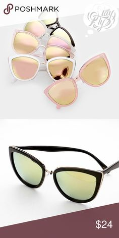 """Mirrored Cateye Sunnies 