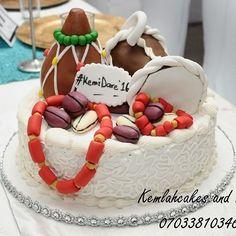 Nigerian traditional wedding cake by Kemlah Cakes Nigerian Traditional Wedding, Traditional Wedding Cakes, Traditional Cakes, Cake Pops, African Wedding Cakes, African Weddings, Blaze Birthday Cake, Africa Cake, Engagement Cakes