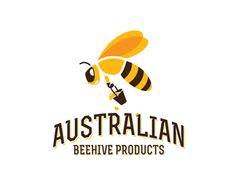 Australian Beehive Products Logo Design | More logos http://blog.logoswish.com/category/logo-inspiration-gallery/ #logo #design #inspiration