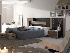dormitorio nogal y negro