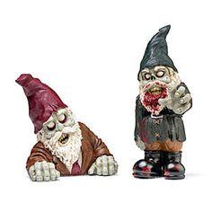 Rising and Evil Zombie Apocalypse Garden Gnomes