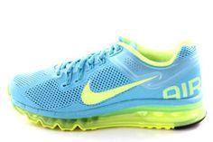 5c66124ede78 Nike Air Max 2013 Women s Gamma Blue Volt Green Running Shoes 555363 470 -  See