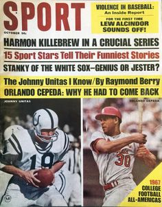 Sports Magazine Covers, Chicago Cubs Baseball, Football, Johnny Unitas, Baltimore Colts, Sports Gallery, Popular Sports, Sports Stars, Funny Stories