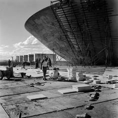 Brazilia Construction by Oscar Niemeyer  Photo by Marcel Gautherot