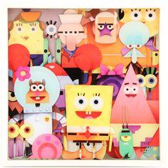SPONGEBOB SQUAREPANTS GETS A HIGH-ART TRIBUTE: Spongebob, Everyone's Watching By Perry Dixon-Maple