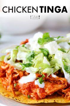 Chicken Tinga Recipe, Pollo Chicken, Chicken Recipes, Recipe For Tinga De Pollo, Beef Recipes, Kitchen Recipes, Cooking Recipes, Healthy Recipes, Healthy Foods