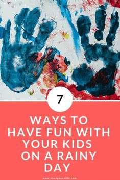 Is it raining and pouring outside, weather just awful and your kids are so bored you have no idea how to keep them busy? Here are 7 ways to have fun indoors with your kids on a rainy day. Click through to see what they are. Craft Activities For Kids, Kids Crafts, Craft Ideas, Family Yearbook, Act For Kids, Create A Family, Basic Math, Love Mom, Mom Advice