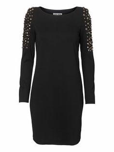 GARCIA LS SHORT DRESS, Black, main