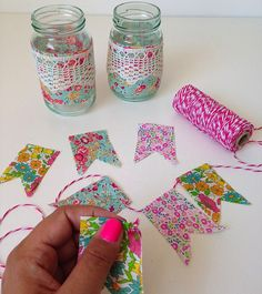 @molliemakes contributor, Allison Sadler, shows us how to make table wedding decoration from mini#LibertyPrint bunting and jam jars#LibertyCraftBlog - The Liberty Craft Blog | Liberty.co.uk Blog - Part 3