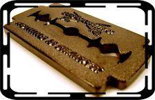 Black Nickel Razor Blade Sword Nothing is Sharper Geocache Geocaching - GEOCOIN