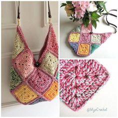 Granny-bag ready for summer  #grannybag #grannysquarebag #grannysquare #crochetbag #crochettote #virkadväska #mormorsrutor #mijocrochet